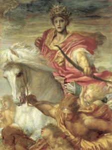 The Four Horsemen of the Apocalypse: the Rider on the White Horse, C.1878 by George Frederick Watts