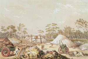 Kapunda Coppermine from the 'South Australia Illustrated', C.1846 by George French Angas