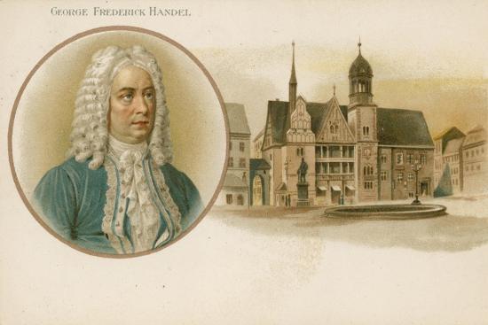 George Frideric Handel, German-Born British Composer--Giclee Print