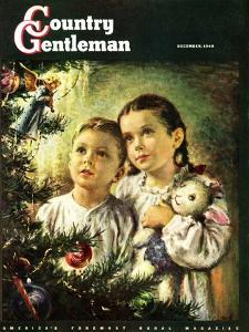 """Christmas Angel,"" Country Gentleman Cover, December 1, 1948 by George Garland"