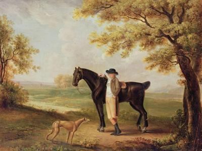 Horse, Rider and Whippet by George Garrard