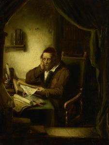 Old Man in His Study by George Gillis Haanen