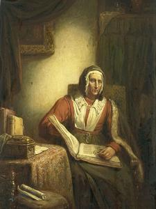 Old Woman Reading by George Gillis Haanen