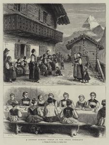 A Sunday School Treat in the Swiss Oberland by George Goodwin Kilburne