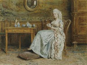Afternoon Tea, 1876 by George Goodwin Kilburne