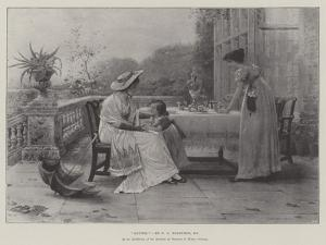 Auntie, in the Exhibition of the Institute of Painters in Water Colours by George Goodwin Kilburne