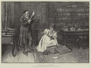 Bibliomania, in the Exhibition of the Royal Institute of Painters in Water Colours by George Goodwin Kilburne