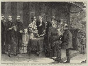 City of London Flower Show in Drapers' Hall Garden, Hrh the Princess Louise Giving the Prizes by George Goodwin Kilburne