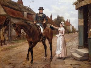 Collecting the Post by George Goodwin Kilburne