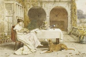 Faithful Friend at Tea Time by George Goodwin Kilburne