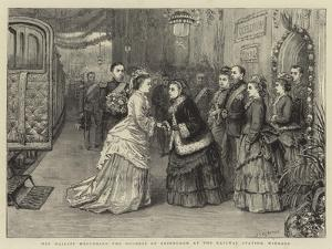 Her Majesty Welcoming the Duchess of Edinburgh at the Railway Station, Windsor by George Goodwin Kilburne