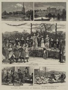May-Day Festivities at Worsley, Near Manchester by George Goodwin Kilburne