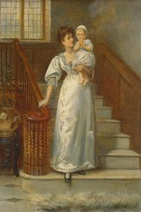 On the Staircase by George Goodwin Kilburne