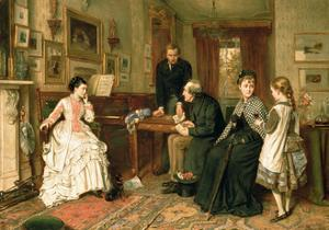 Poor Relations, 1875 by George Goodwin Kilburne
