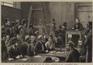 Sale in the Studio of the Late Sir Edwin Landseer, Lot 440, Landseer's Easel by George Goodwin Kilburne