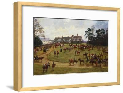 The Cheshire Hunt - the Meet at Calveley Hall