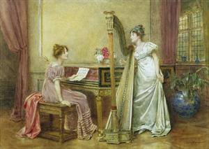 The Rehearsal by George Goodwin Kilburne