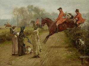 Watching the Hunt, 1895 by George Goodwin Kilburne