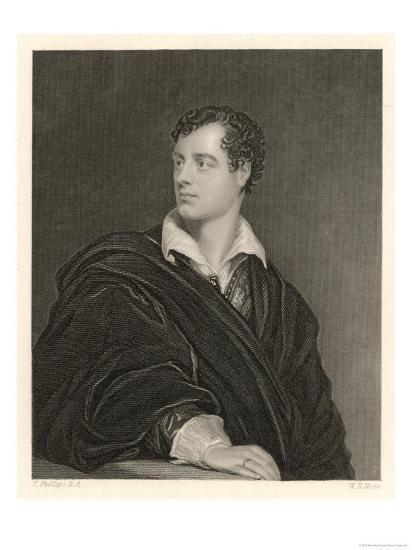George Gordon Lord Byron English Poet in 1814- Moto-Giclee Print