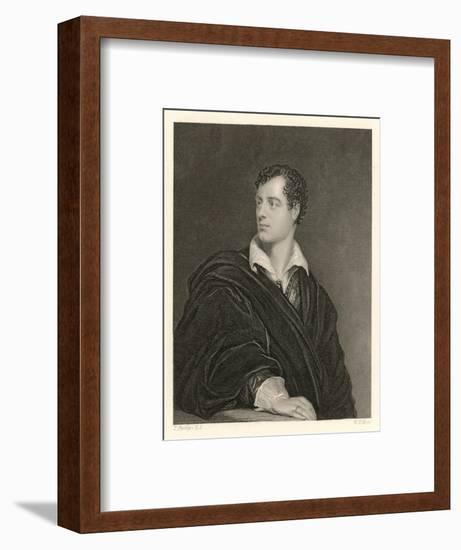 George Gordon Lord Byron English Poet in 1814- Moto-Framed Giclee Print