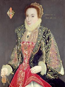 Mary Denton, Nee Martyn, Aged 15 in 1573 by George Gower