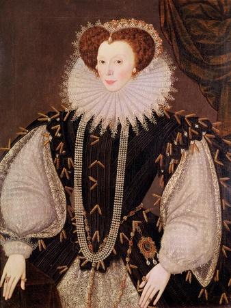 Portrait of Elizabeth Sydenham, Lady Drake, circa 1585