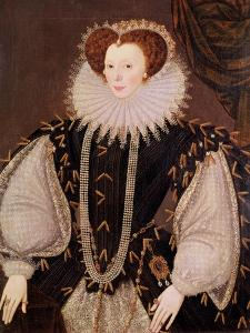 Portrait of Elizabeth Sydenham, Lady Drake, circa 1585 by George Gower