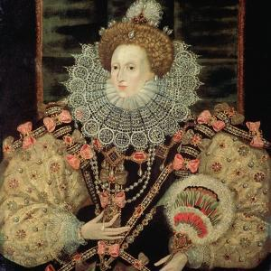 Portrait of Queen Elizabeth I - the Armada Portrait by George Gower