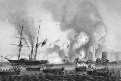 The Destruction of the Chinese War Junk in Anson's Bay, 7 January 1841 by George Greatbatch