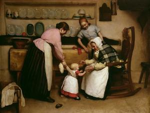 First Steps, 1888 by George Hall Neale