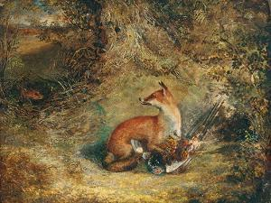A Fox with a Pheasant by George Havell