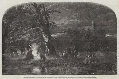 Gipsies, Twilight, from the Exhibition of the Society of Painters in Water-Colours by George Haydock Dodgson