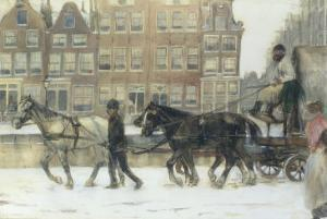 Along the Canal, Amsterdam by George Hendrik Breitner