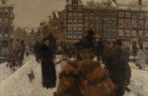 Bridge over the Singel at the Paleisstraat, Amsterdam, C. 1896 by George Hendrik Breitner