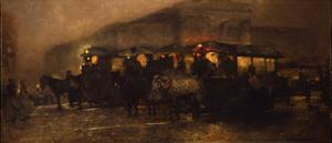 Evening at Square by George Hendrik Breitner