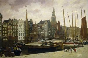 The Damrak, Amsterdam, 1903 by George Hendrik Breitner