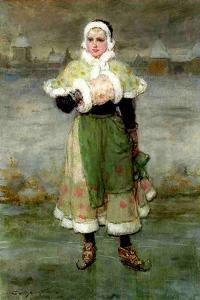 A Dutch Skater by George Henry Boughton