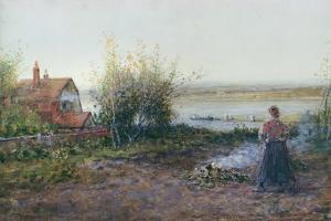 Bawdsey Ferry, Near Felixstowe by George Henry Boughton