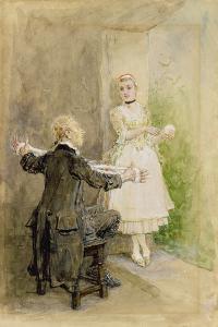 Ichabod Crane and Katrin Van Tassel, C.1893 by George Henry Boughton