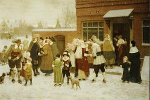 New Year's Day, New Amsterdam, 1876 by George Henry Boughton