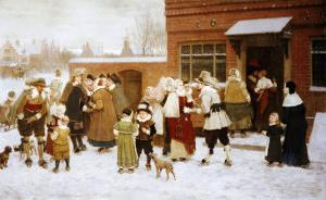 New Years Day, New Amsterdam by George Henry Boughton
