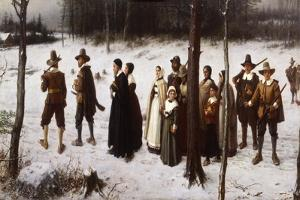 Pilgrims Going to Church, 1867 by George Henry Boughton