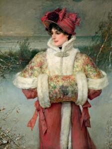 The Lady of the Snows, C.1896 by George Henry Boughton