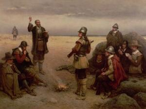 The Landing of the Pilgrim Fathers, 1620 by George Henry Boughton