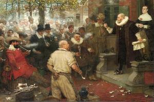 The Smokers' Rebellion (The Edict of William the Testy) by George Henry Boughton