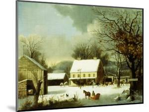 Inn Scene, Seven Miles to New Haven by George Henry Durrie