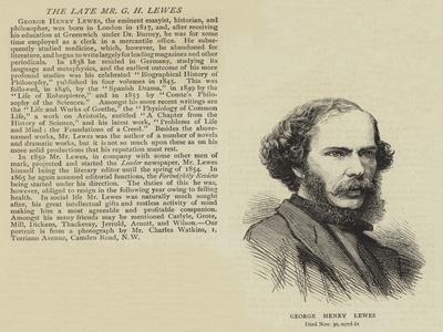 George Henry Lewes--Giclee Print