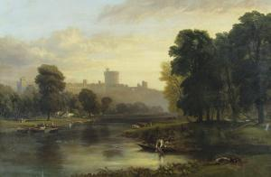 View of Windsor Castle from Across the Thames, 19th Century by George Hilditch