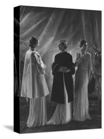 Vogue - April 1933 - Three Women in Augustabernard Gowns