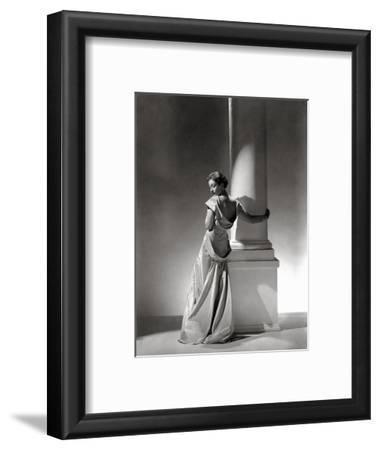 Vogue - September 1934 - Vionnet Dress Modeled by Column